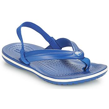 Sapatos Criança Sandálias Crocs CROCBAND STRAP FLIP K Azul