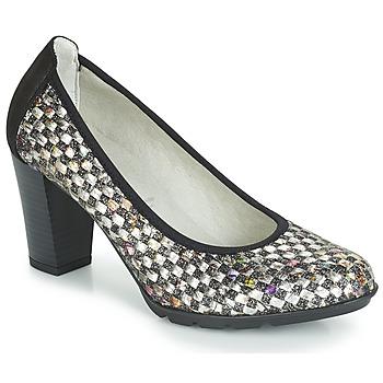 Sapatos Mulher Escarpim Dorking 7736 Cinza / Preto