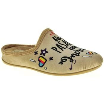 Sapatos Mulher Chinelos Calzamur 1199 Beige