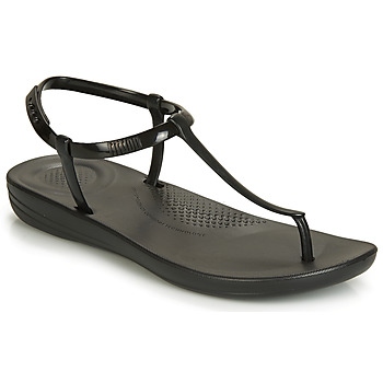 Sapatos Mulher Chinelos FitFlop IQUSHION SPLASH - PEARLISED Preto