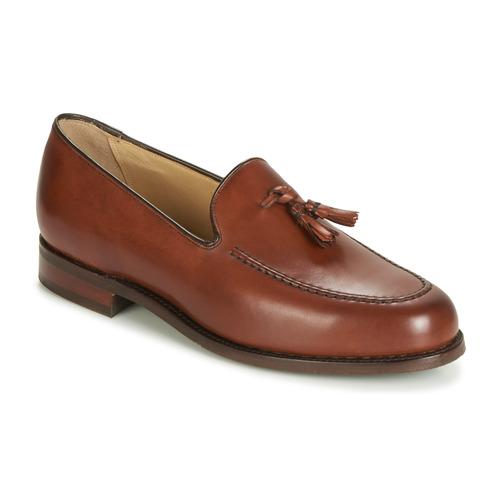 Sapatos Homem Mocassins Barker STUDLAND Castanho
