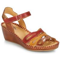 Sapatos Mulher Sandálias Pikolinos MARGARITA 943 Vermelho / Castanho