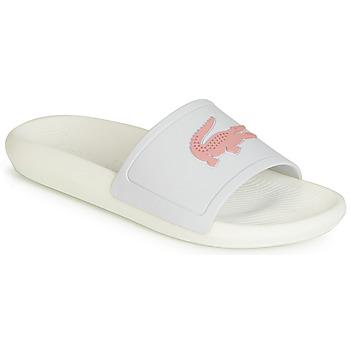 Sapatos Mulher chinelos Lacoste CROCO SLIDE 119 3 Branco / Rosa