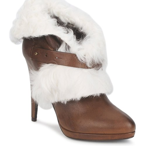 Sapatos Mulher Botins Roberto Cavalli QPS586-PJ027 Castanho / Branco