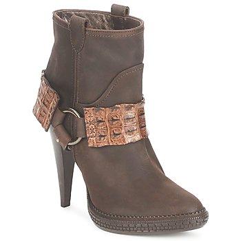 Sapatos Mulher Botins Roberto Cavalli QPS577-PK206 Castanho