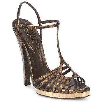 Sapatos Mulher Sandálias Roberto Cavalli QDS627-PM027 Bronze