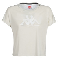 Textil Mulher T-Shirt mangas curtas Kappa YERRI Bege / Cinza