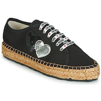 Sapatos Mulher Alpargatas Love Moschino JA10263G07 Preto