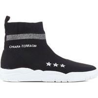 Sapatos Mulher Sapatilhas de cano-alto Chiara Ferragni CF1948 BLACK nero