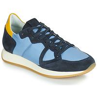 Sapatos Mulher Sapatilhas Philippe Model MONACO VINTAGE BASIC Azul / Amarelo
