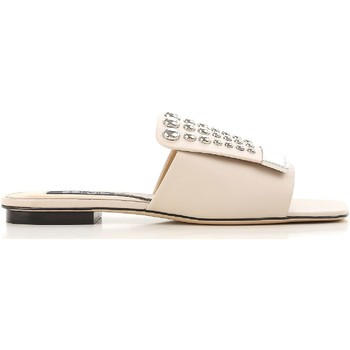 Sapatos Mulher chinelos Sergio Rossi A80380 MFN205 9179 Nudo