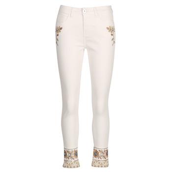 Textil Mulher Calças Jeans Desigual SARI WHITE Marinho