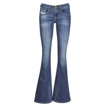 Textil Mulher Calças de ganga bootcut Diesel EBBEY Azul