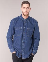 Textil Homem Camisas mangas comprida Diesel D FRED Azul
