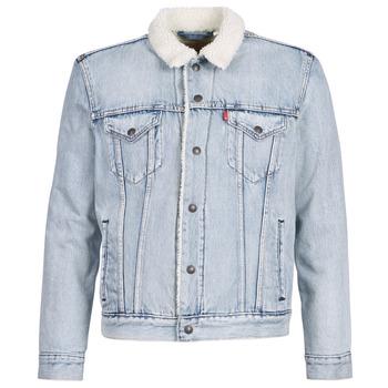 Textil Homem casacos de ganga Levi's TYPE 3 SHERPA TRUCKER Azul