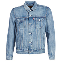 Textil Homem casacos de ganga Levi's THE TRUCKER JACKET Azul
