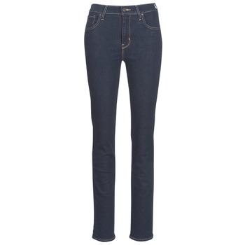 Textil Mulher Calças Jeans Levi's 724 HIGH RISE STRAIGHT Chá / Nove
