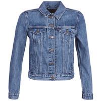 Textil Mulher casacos de ganga Levi's ORIGINAL TRUCKER Azul