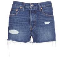 Textil Mulher Shorts / Bermudas Levi's 502 HIGH RISE SHORT Azul