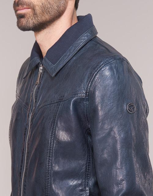 RUBBETS  Redskins  casacos de couro/imitação couro  homem  marinho
