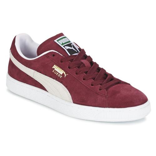 Sapatos Sapatilhas Puma SUEDE CLASSIC Bordô