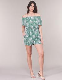 Textil Mulher Macacões/ Jardineiras See U Soon GARAGABE Verde / Branco