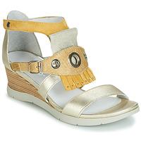 Sapatos Mulher Sandálias Regard RUBIKA V3 VEL JAUNE Amarelo