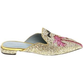 Sapatos Mulher Tamancos Chiara Ferragni CF1842 GLITTER ORO oro