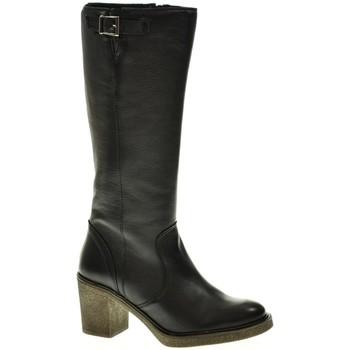 Sapatos Mulher Botas Linea Purpura 80536 Negro