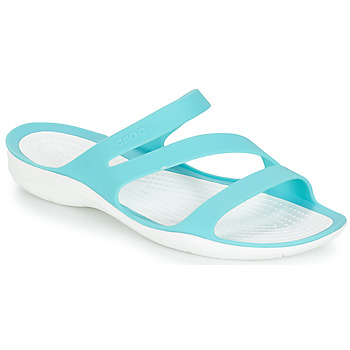 Sapatos Mulher chinelos Crocs SWIFTWATER SANDAL W Azul