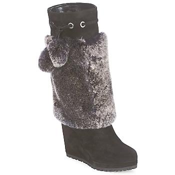 Sapatos Mulher Botas Sebastian NIGOK Preto