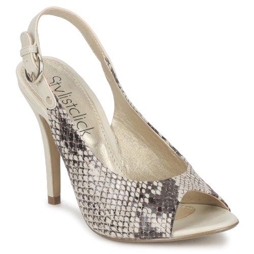 Sapatos Mulher Sandálias StylistClick RUTH Bege / Celadon