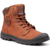 Sapatos Homem Botas baixas Palladium Manufacture Pampa Cuff WP Lux 73231-733-M brown