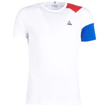 Textil Homem T-Shirt mangas curtas Le Coq Sportif ESS Tee SS N°10 M Branco / Vermelho / Azul