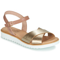 Sapatos Mulher Sandálias Casual Attitude JALAYEDE Rosa / Ouro