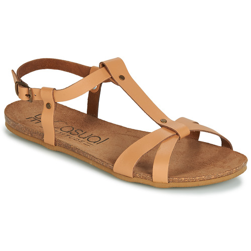Sapatos Mulher Sandálias Casual Attitude JALIYAXE Camel