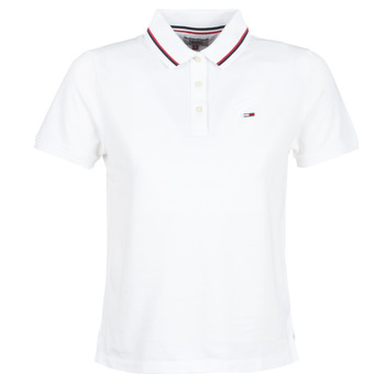 Textil Mulher Polos mangas curta Tommy Jeans TJW TOMMY CLASSICS POLO Branco