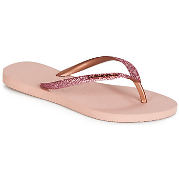 Sapatos Mulher Chinelos Havaianas SLIM GLITTER Rosa