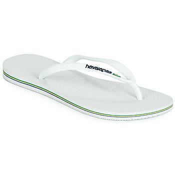 Sapatos Mulher Chinelos Havaianas SLIM BRASIL LOGO Branco
