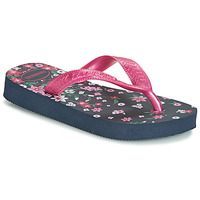 Sapatos Rapariga Chinelos Havaianas KIDS FLORES Marinho / Rosa