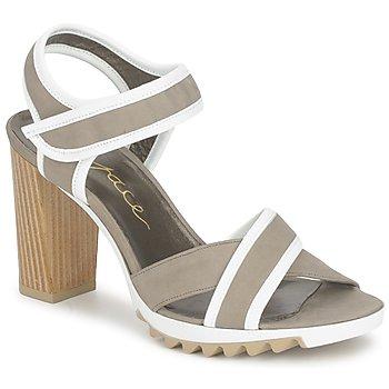 Sapatos Mulher Sandálias Espace GENIEVRE Cinza / Branco