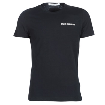 Textil Homem T-Shirt mangas curtas Calvin Klein Jeans CHEST INSTITUTIONAL SLIM SS TEE Preto