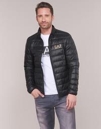 Textil Homem Quispos Emporio Armani EA7 TRAIN CORE ID DOWN LT Preto / Ouro