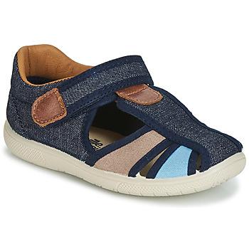 Sapatos Rapaz Sandálias Citrouille et Compagnie JOLIETTE Ganga / Azul / Bege