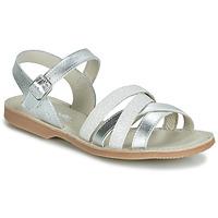 Sapatos Rapariga Sandálias Citrouille et Compagnie JAGUINOIX Cinza / Prata