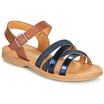 Sapatos Rapariga Sandálias Citrouille et Compagnie JOLICOTE Marinho / Camel