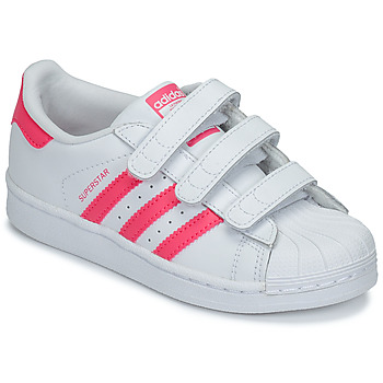 Sapatos Rapariga Sapatilhas adidas Originals SUPERSTAR FOUNDATIO Branco / Rosa