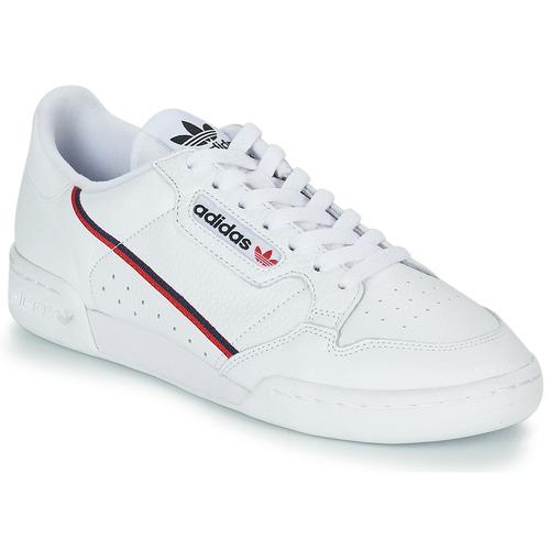 bfd4692c24 adidas Originals CONTINENTAL 80 Branco - Entrega gratuita | Spartoo ...