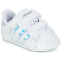 Sapatos Rapariga Sapatilhas adidas Originals SUPERSTAR CRIB Branco
