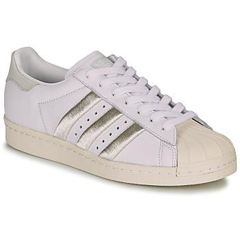 Sapatos Mulher Sapatilhas adidas Originals SUPERSTAR 80s W Branco / Bege
